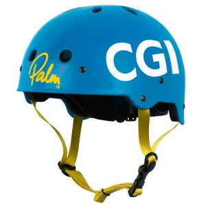 Blue helmet sponsored by CGI